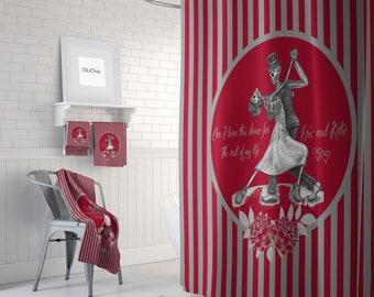 Custom Shower Curtain, Dancing Sugar Skulls, Personalized  Skull Couple ,Bath Mat, Bath Towels, The Dance