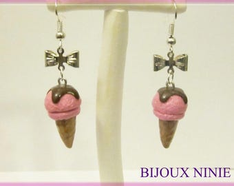 Earrings ice cream Fimo