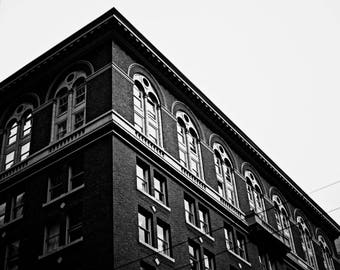 Downtown Seattle Building in B&W