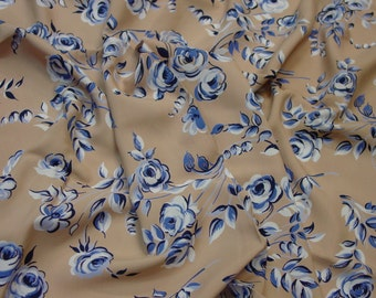 """Vintage Rayon Fabric c.1940's Gorgeous Floral Print, 3 Yards 13"""", 39"""" Wide"""