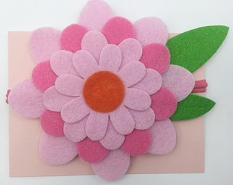 Pink Large Bloom Headband