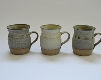 Three Vintage Studio Pottery Mugs
