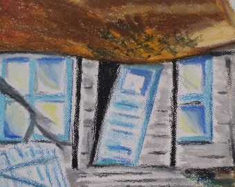 It Was- oil pastels on canvas