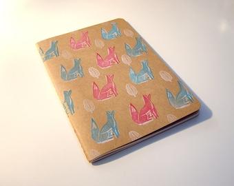Foxes in Woodland Sketchbook or Notebook