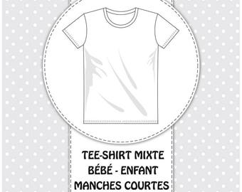 Pack 3 sizes 6 years/7/8 years - boss t-shirt mixed short sleeves