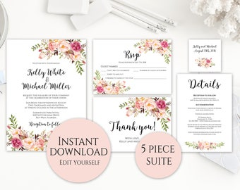 Wedding Invitation Template, Wedding Invitation Printable, Wedding Invitation Packages, Wedding Invitation Set, Wedding Invitation Suite, C1