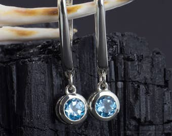 Earrings made of 925 silver with topaz, ametrine, Citrine or Peridot