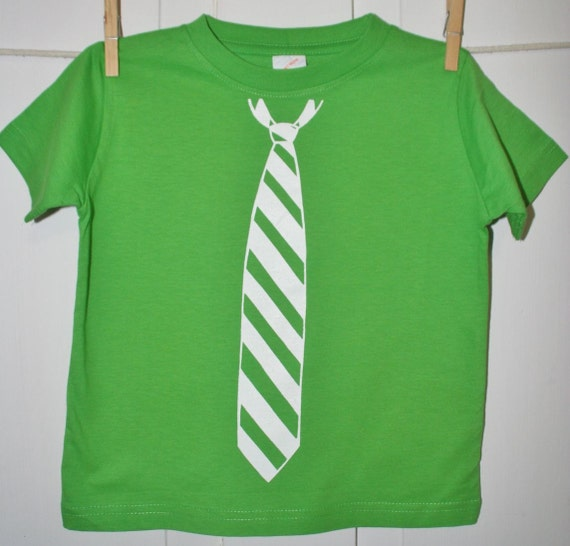 Tie Tee Adult Men's T-shirt Pictured in Apple Green With White Tie