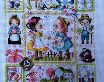 Cross Stitch : Frame of Farmer Girl
