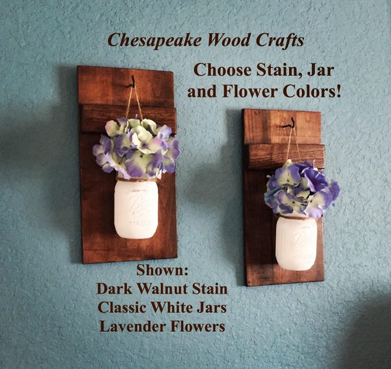 Skyrim Wall Sconces Not Working: Set Of 2 Wall Sconces Mason Jar Wall Decor Rustic Home