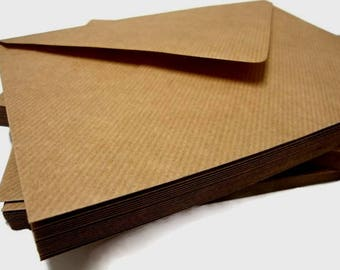 Brown Ribbed Kraft Envelopes - Diamond Gummed Flaps