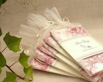 Custom Bridesmaids Gifts - shoe bags, six sets,  designer fabric choice, weddings