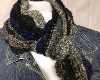 scallop edge scarf