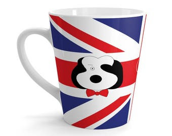 Latte Mug Featuring Bobby Dazzler & Union Jack
