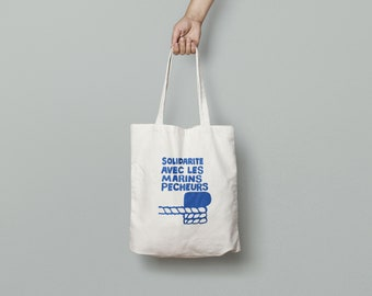Tote Bag May 1968 solidarity with fishermen - limited edition - poster poster may 68