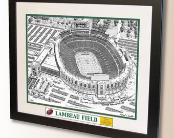Lambeau Field Art, home of the Green Bay Packers
