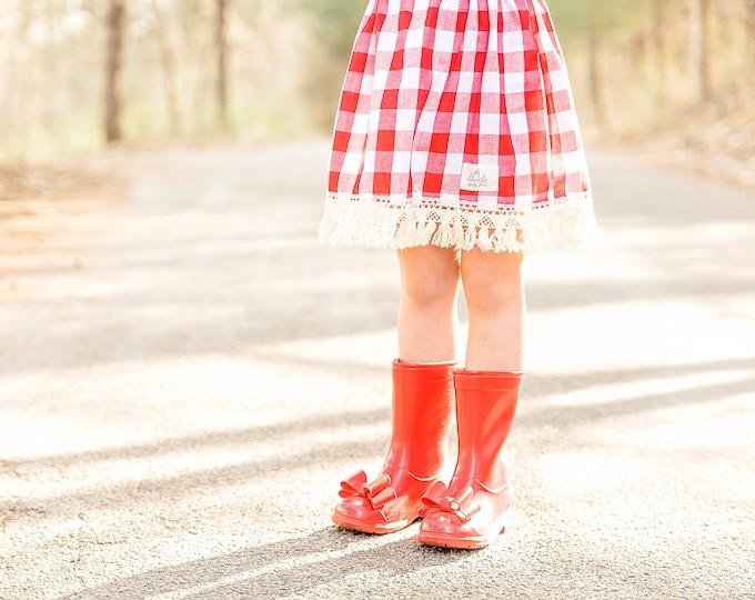 "Swanky Shank Girls 'Strawberry Picnic"" Skirt"