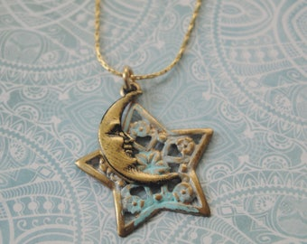Star And Moon Necklace For Her    Twinkle, Twinkle Little Star   Celestial Zen