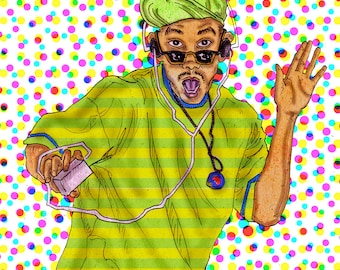 Fresh Prince of Bel Air - Illustration Print - WIll Smith 90's TV show