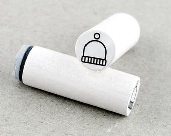 Mini Rubber Stamp Winter Hat Ø 1,1 cm