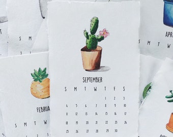 Succulent Watercolor Calendar