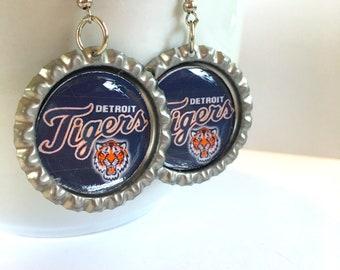 Detroit TIGERS Baseball Handcrafted Earrings