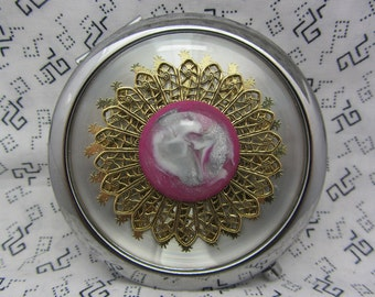 Compact Mirror Bella Bridesmaid Maid of Honor Gift Comes With Protective Pouch