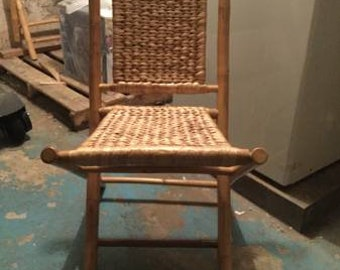 Bamboo Folding Chairs x2 - PICK UP ONLY - nyc