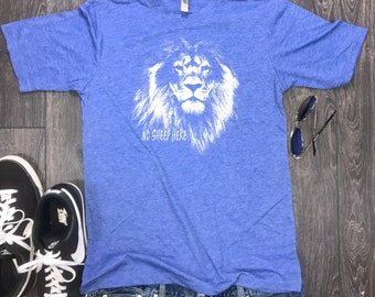 No Sheep Here Lion mens shirt, lion mens t-shirt, motivational shirt, motivation mens, workout shirt, mens t-shirt, gym shirt. limitless