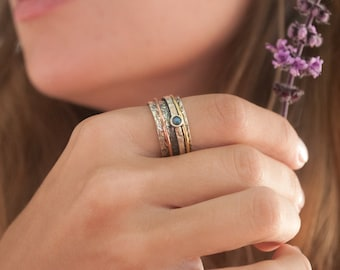 Meditation Ring * Spinner Ring * Spinning Ring * Anxiety Ring * Worry Ring * Boho Ring * Spin Ring * Statement Ring BJS002