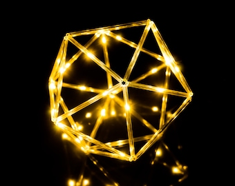 Illuminated icosahedron