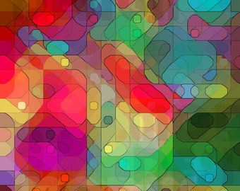 Abstract Art Design Multi coloured Shapes