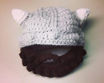 Baby and Toddler Short Beard Viking Hat