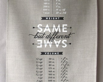same same linen tea towel