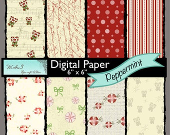 We Are 3 Digital Paper, Peppermint