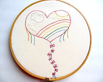 Heartflight PDF Stitchery Pattern