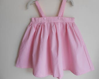 pale pink strapless dress size 18 months