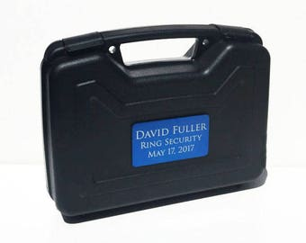 Ring Bearer Briefcase, Ring Bearer Case, Ring Security, Ring Bearer Gift, Wedding, Engraved Gift