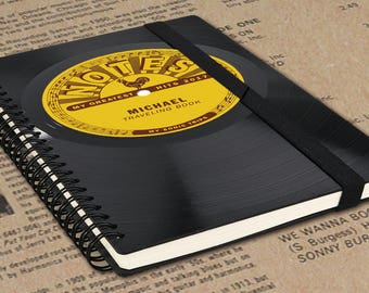 DJ Gift   Blank Journal Vinyl - Personalized Journal   Blank Notebook   Music Journal   Gift for Musicians   Boyfriend Gift   Blank Gift