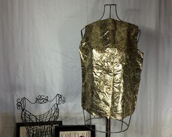 Vintage Metallic Golden Shirt