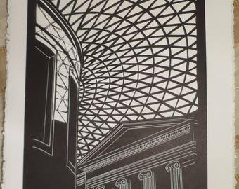 British Museum - linocut