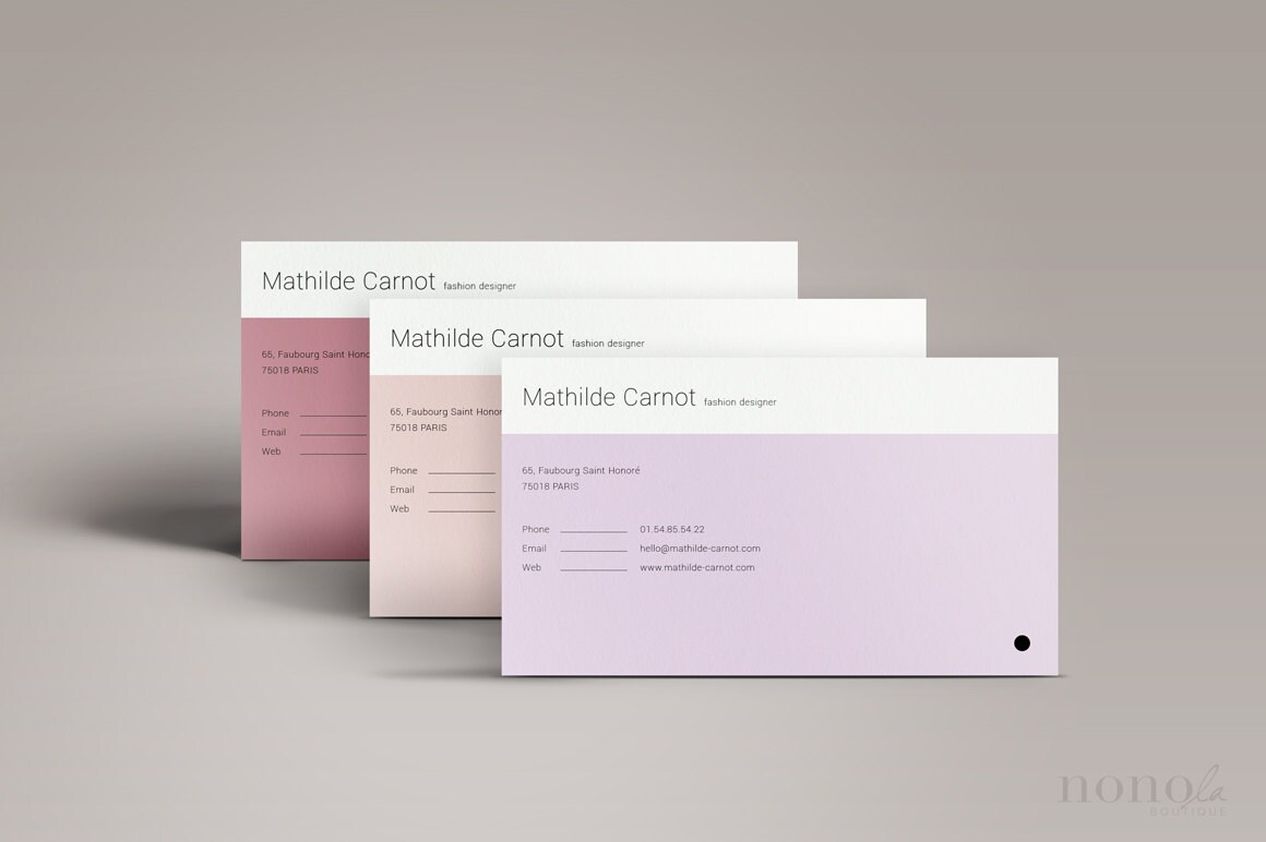 Simple Business Card Template 3pk Minimal Business Card