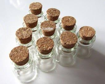 10 Pcs 22x25mm 4ml Wish Bottles Tiny Clear Cork Glass Bottles Vials/christmas bottle/spice jar/wedding bottle/decor bottle/herb bottles