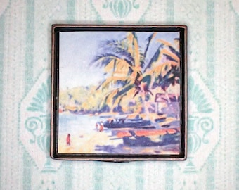 Miniature 1:12 Dollhouse Painting - Edwin Ambrose Webster - Harbor, Montego Bay
