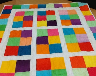 Bright Colored Baby Quilt