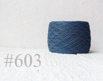 steel blue color linen thread, linen flax # 603