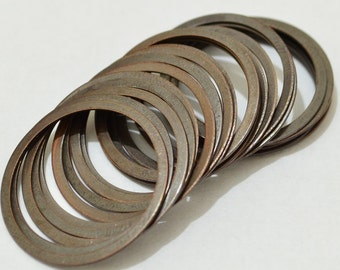 100 Pieces Copper Plated 25 mm Round Disc