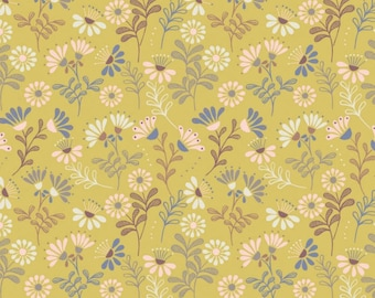 Little Birdie Told Me - Floral Gold Mustard from Lewis and Irene