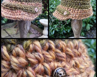 Chunky Newsboy crochet hat