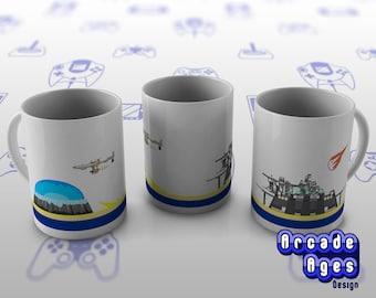 Simple Midgar Mug / Cup / FF7 / Final Fantasy VII / Squaresoft / Video Games / Geek